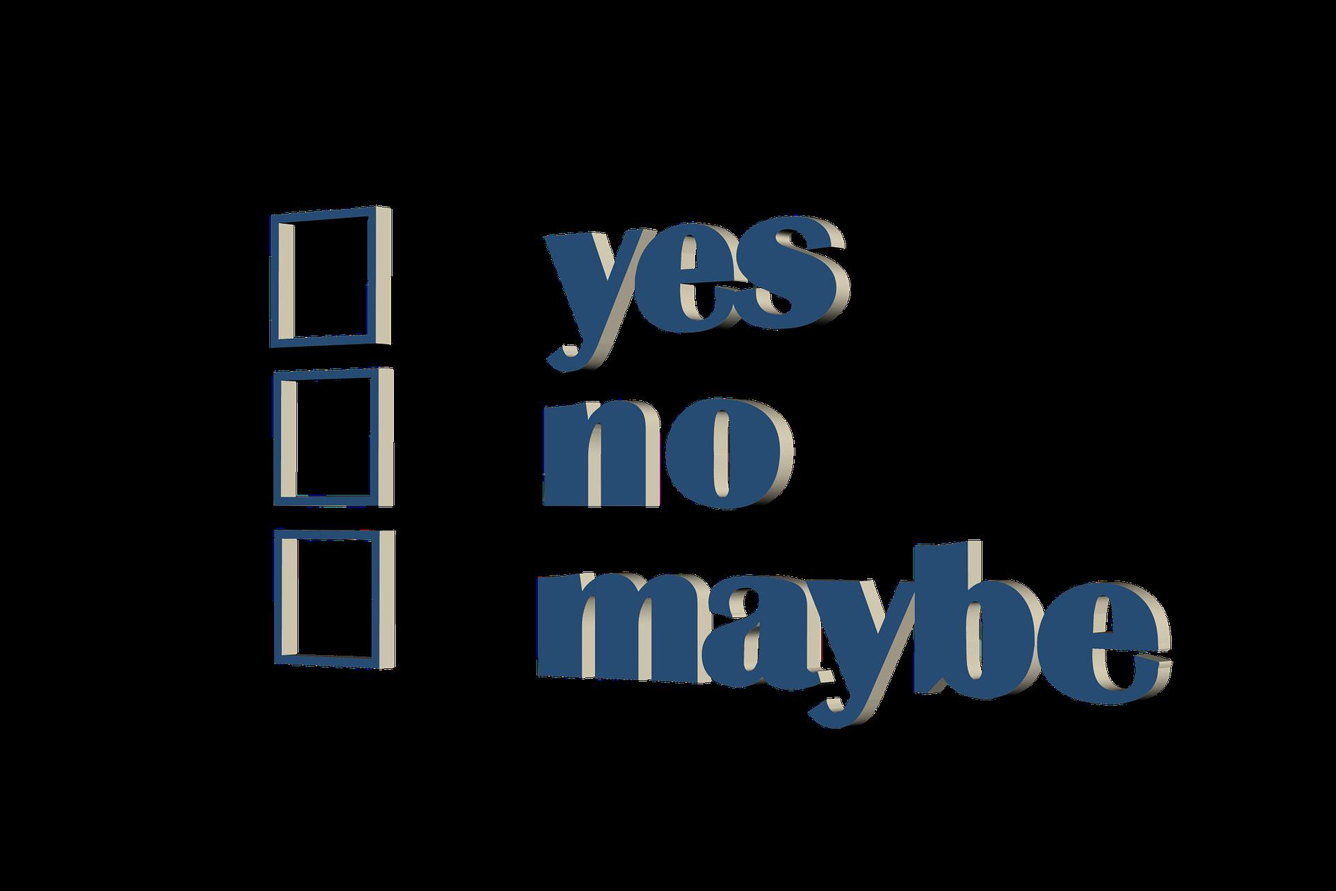 Yes No Maybe Checkbox