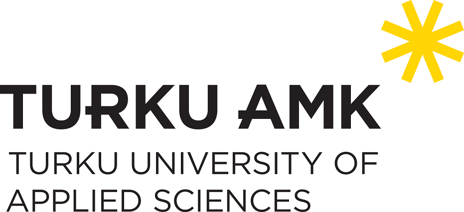 Turku University of Applied Sciences logo, black text in uppercase letters with a large yellow asterisk on the upper right-hand corner.