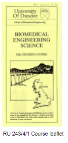 Course leaflet for Biomedical Engineering Science