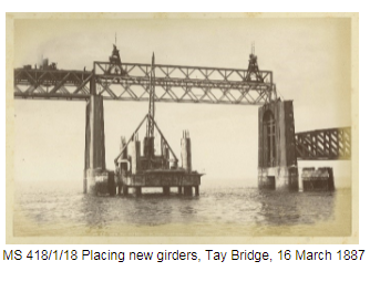 Placing of new girders Tay Bridge 1887