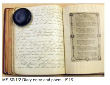 Handwritten diary entry