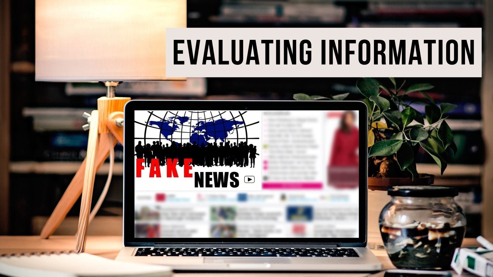 A picture of a laptop showing fake news to represent evaluating information