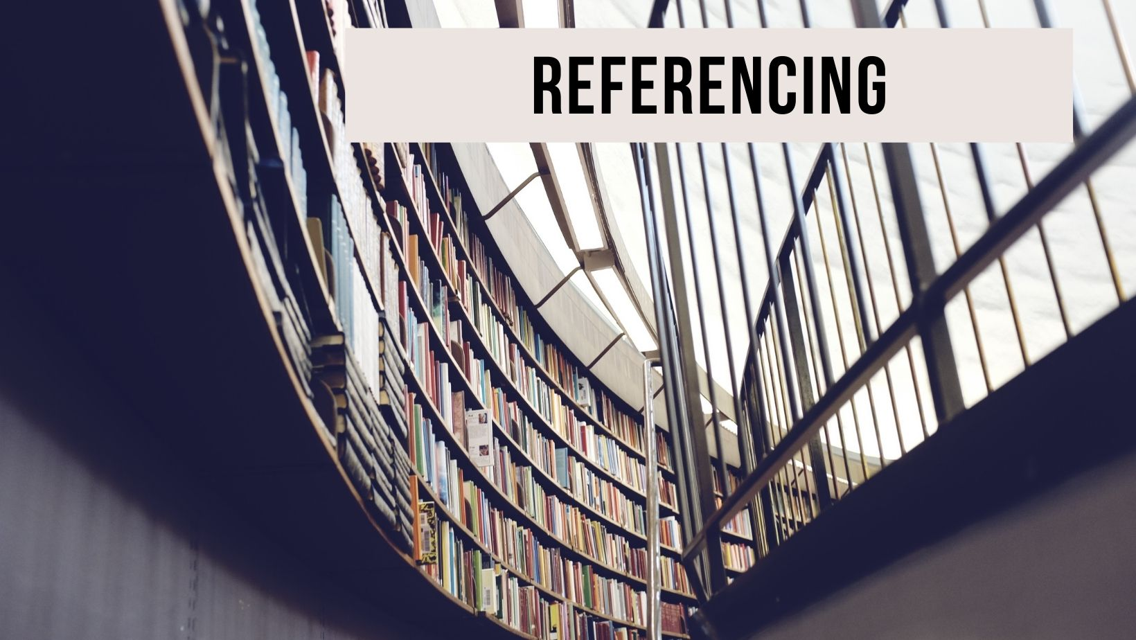 Picture of a library to represent referencing