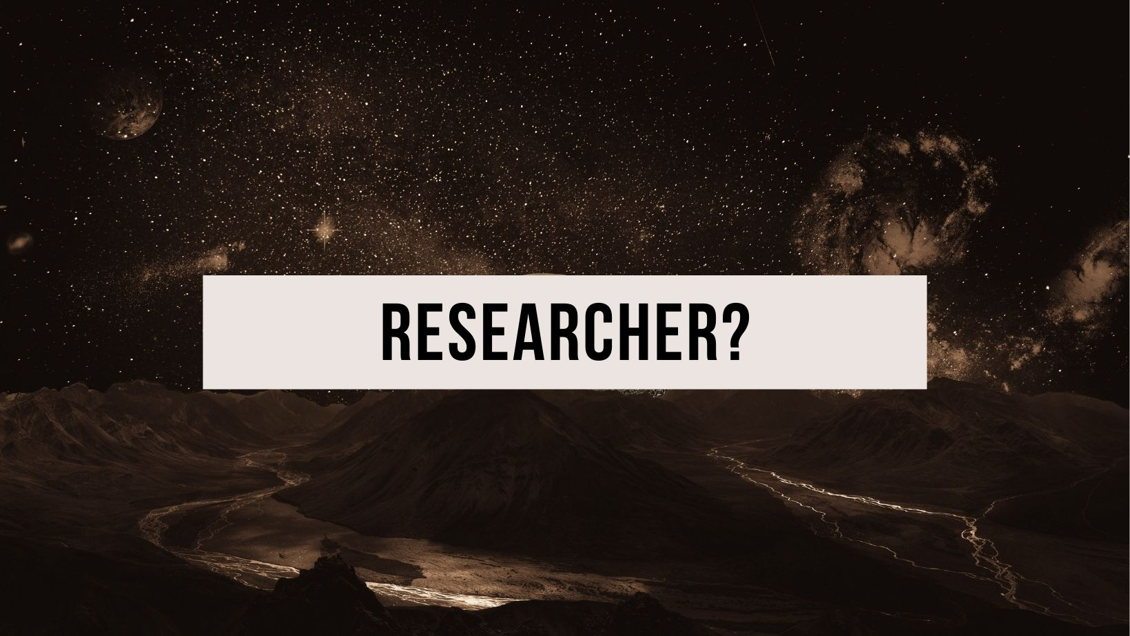 Picture of a planet to represent researcher