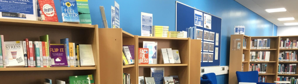 Header image. A photo of Bristol Library's bookcases.