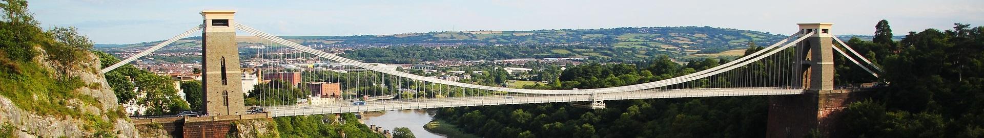 Header image. A photo of Bristol suspension bridge,