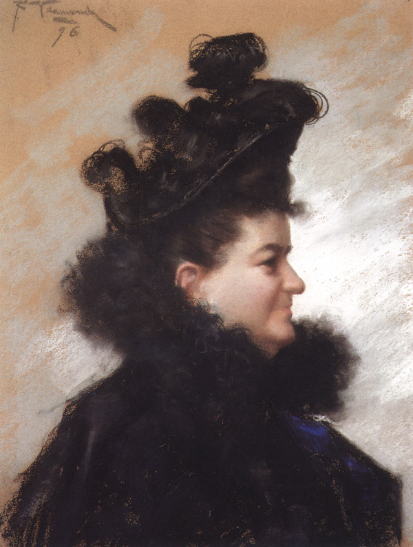 Retrato de Emilia Pardo Bazán, acceso a Wikimedia Commons