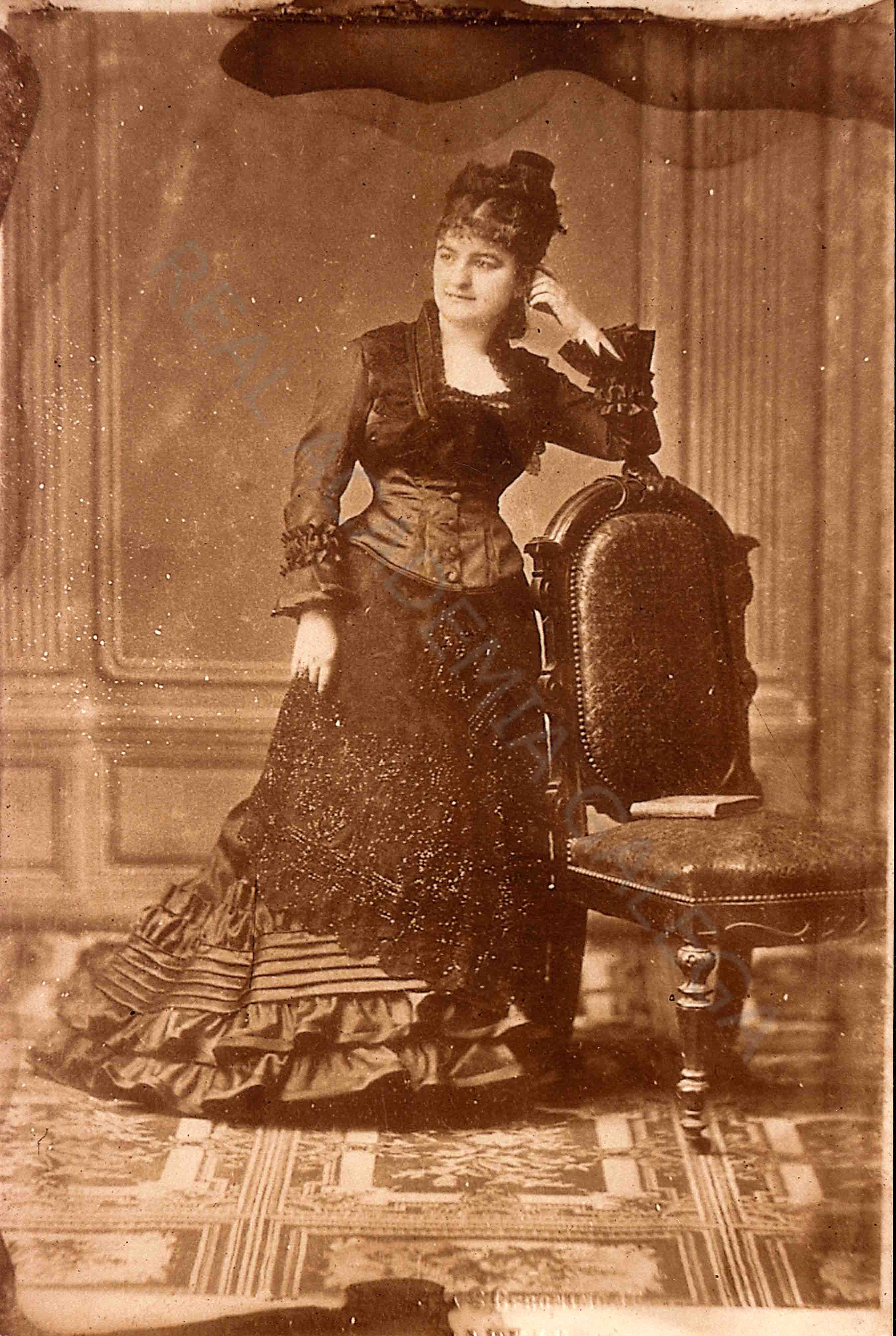 Retrato de Emilia Pardo Bazán joven, acceso a Galiciana