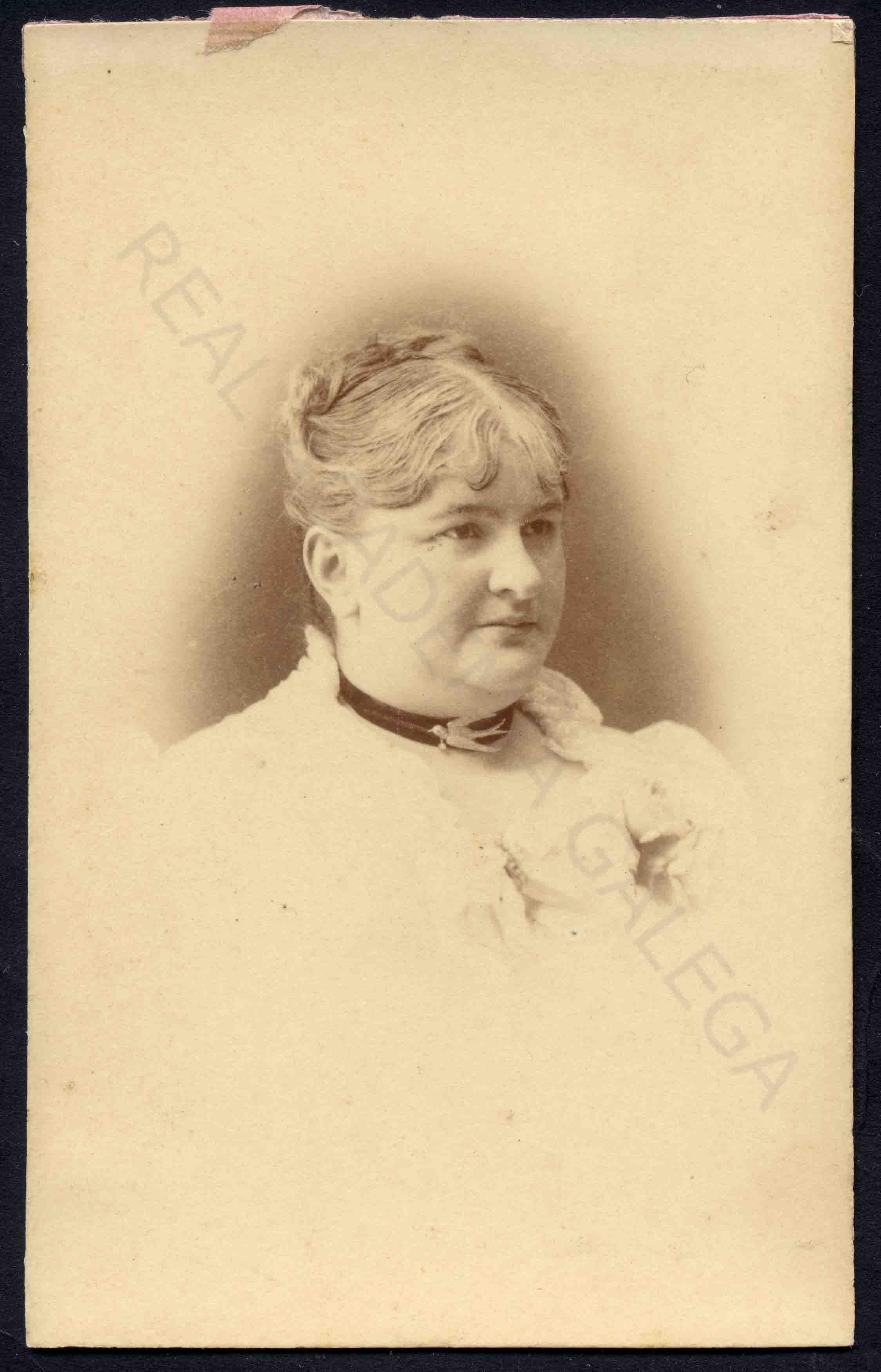 Retrato de Emilia Pardo Bazán, acceso a Galiciana