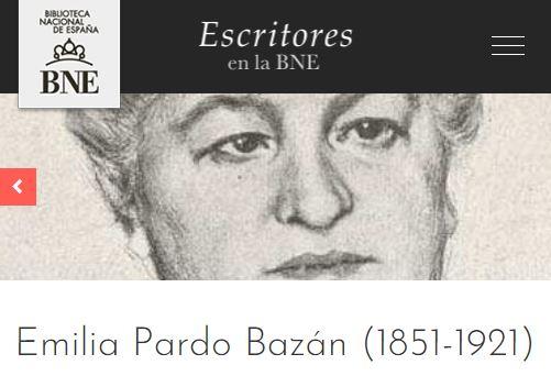 Imagen de la semblanza de Emilia Pardo Bazán en el Portal de Escritores