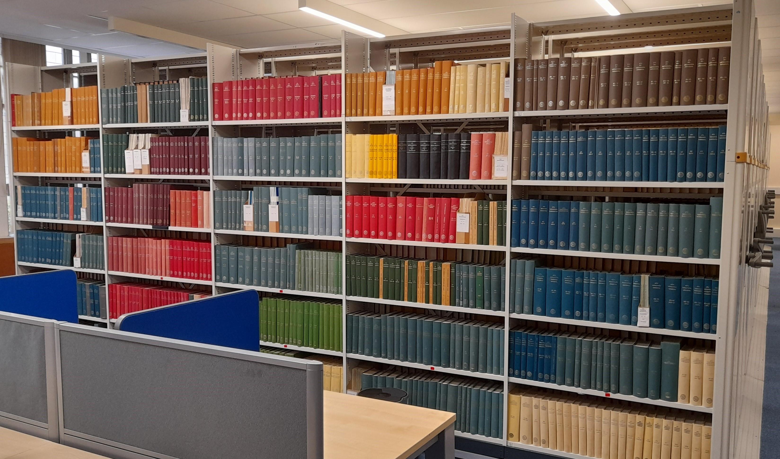 Shelves of medical journals