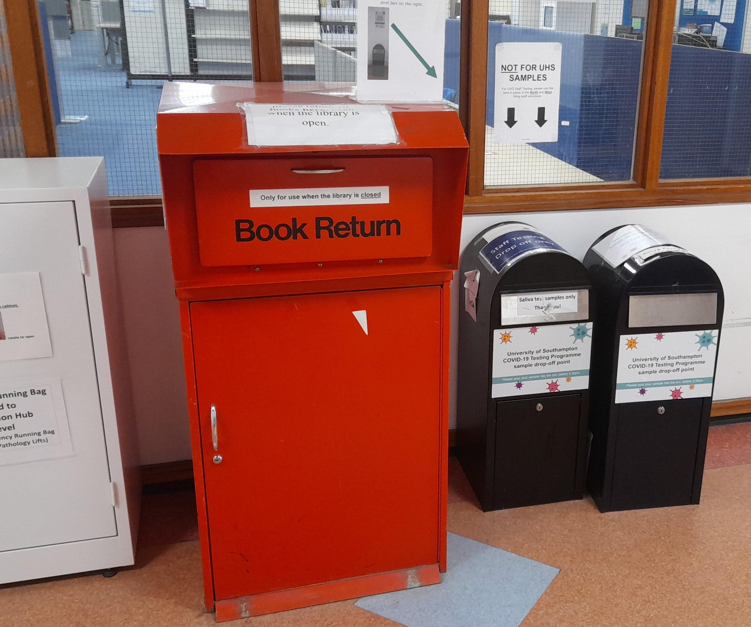 The red book return box