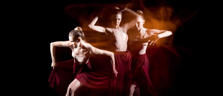 Timelapse image of a ballet dancer