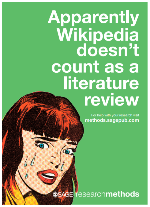 Apparently Wikipedia doesn't count as a literature review - image of stressed female.