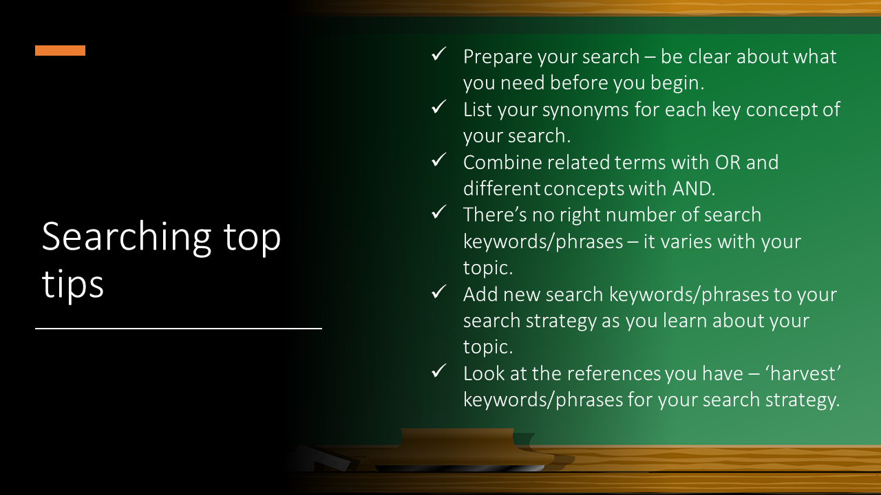 Searching top tips