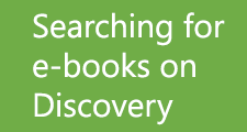 Searching for e-books on Discovery