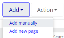 Image of the Add manually option selected under the Add option