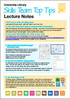 6 top tips for lecture notes