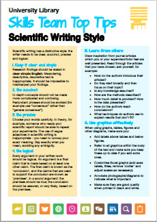 Thumbnail Scientific Writing Style
