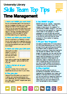 Thumbnail of Time Management printable guide