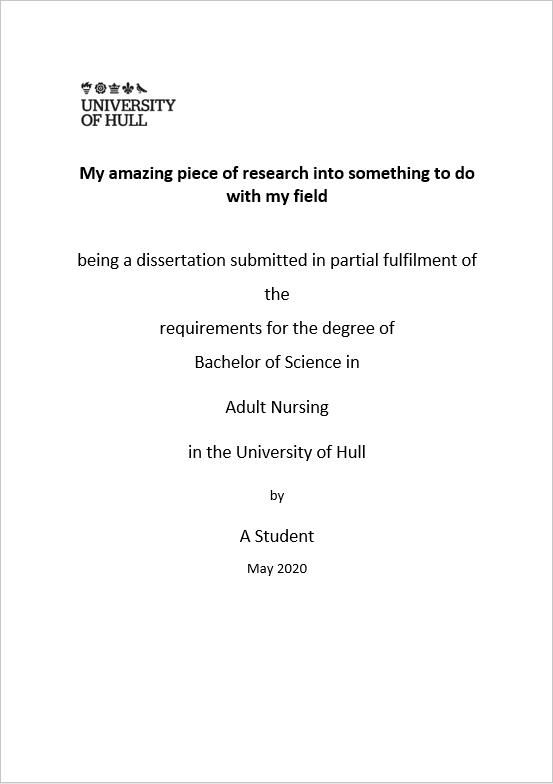 Dissertation title page