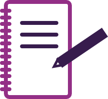 notebook and pen icon