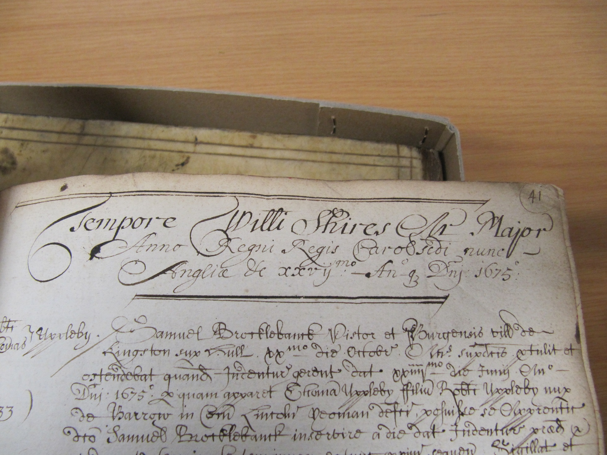 An example (in Latin) of Regnal years being used to date a document