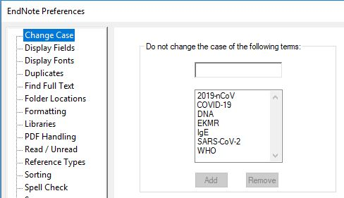 change case preferences