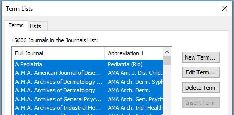 delete journal names