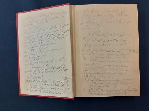 Paasikiven merkintöjä Juho Timosen Lenin-kirjassa.
