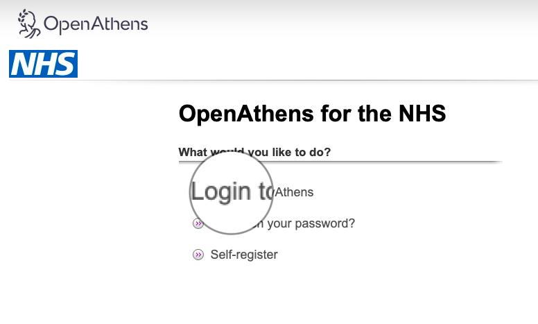 Login to OpenAthens