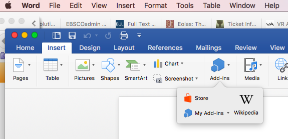 Word Store - search for RefWorks then follow the installation instructions