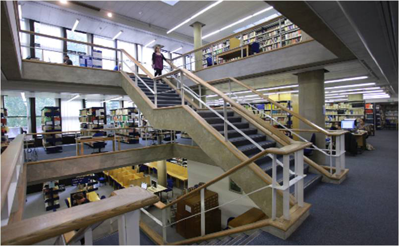 IOE Library Central Staircase Image