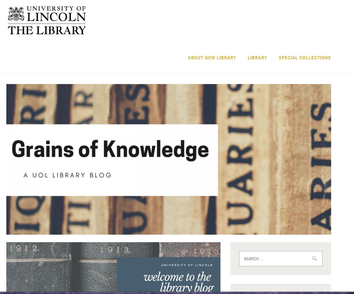 Grains of Knowledge blog banner