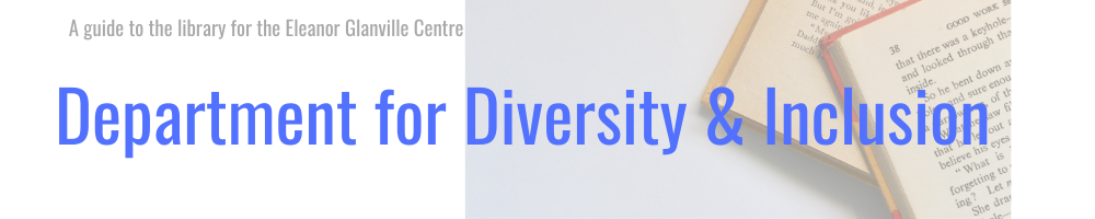 Department for diversity and inclusion banner