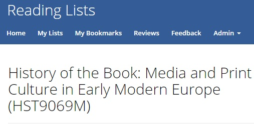 History reading list