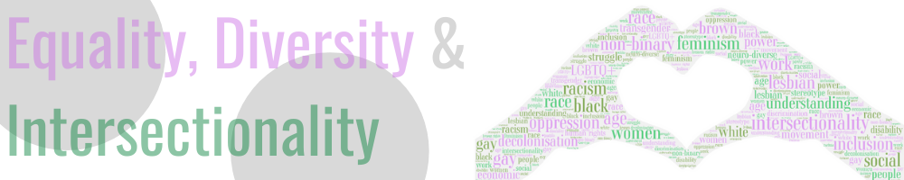 Equality, diversity and intersectionality banner
