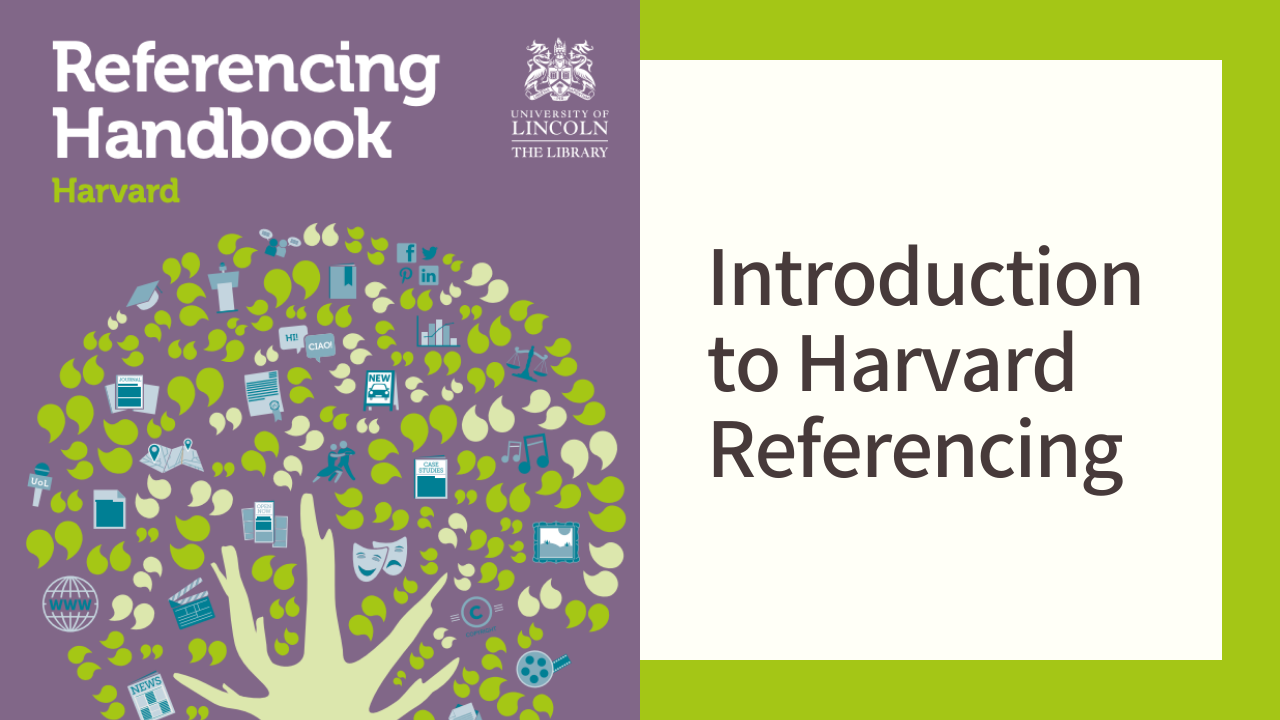 Front cover of Harvard Referencing Handbook