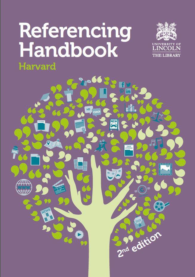 University of Lincoln Harvard Referencing Handbook cover