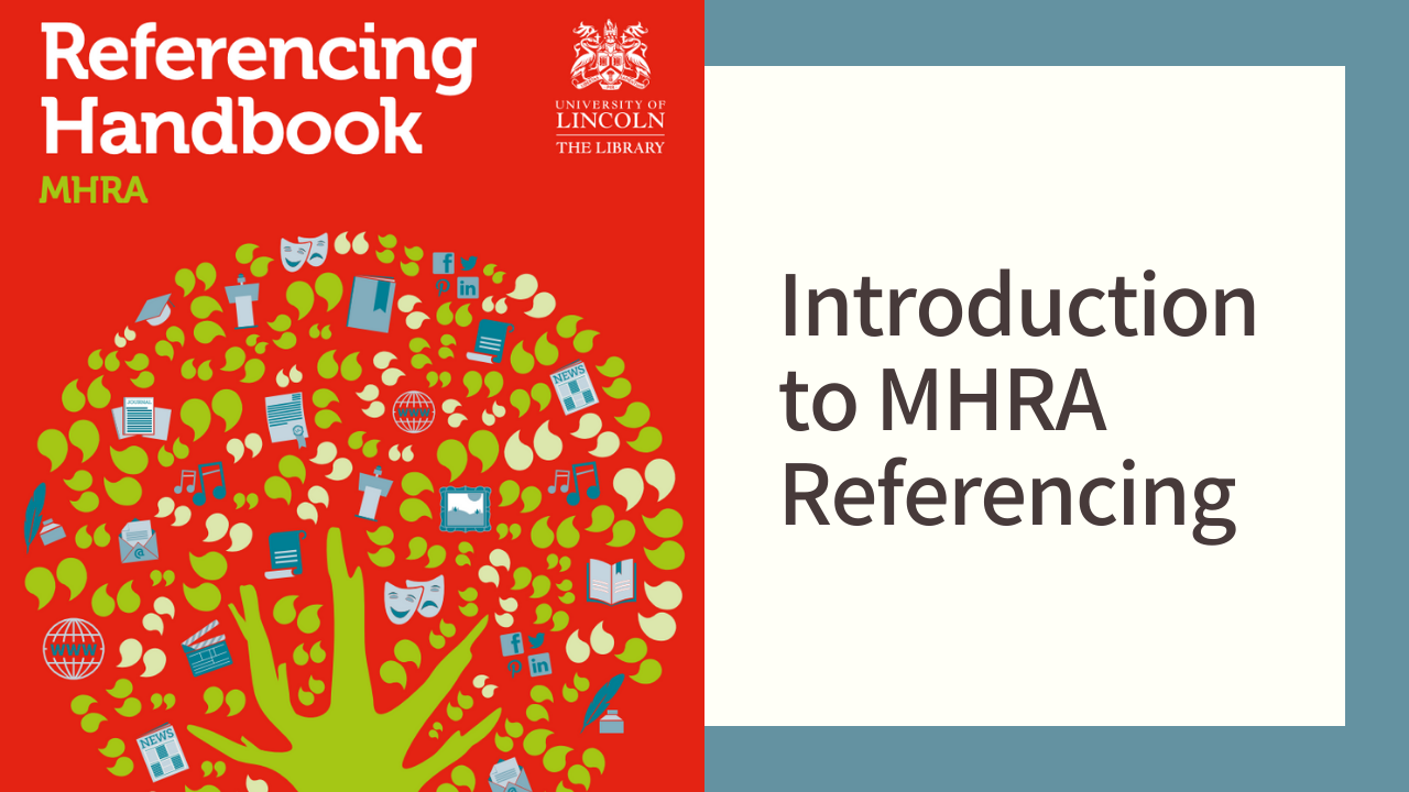 Introduction to MHRA referencing