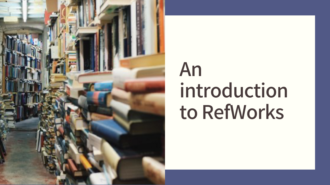 Introduction to RefWorks