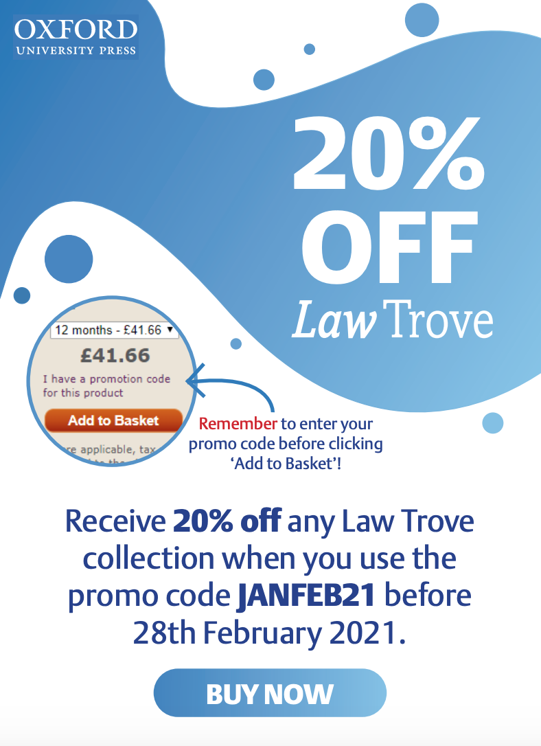 Law Trove discount offer until end 28 February 2021