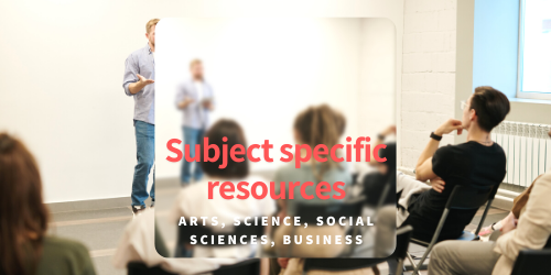 Subject specific resources