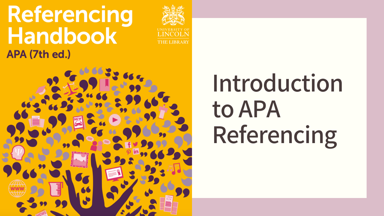 Link to Introduction to APA referencing library webinar