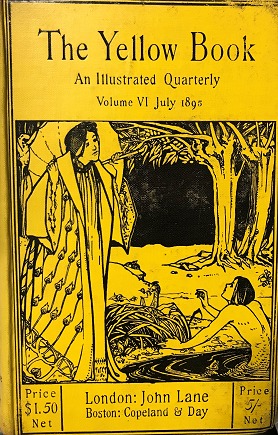 Front cover of The Yellow Book: An Illustrated Quarterly, Volume VI July 1895, London: John Lane