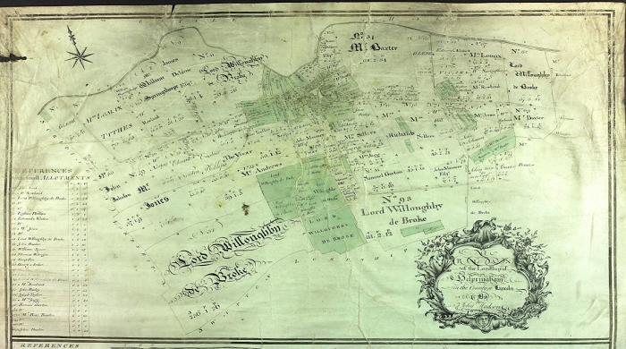 Old Lincolnshire map - Lord Willoughby de Broke No.93