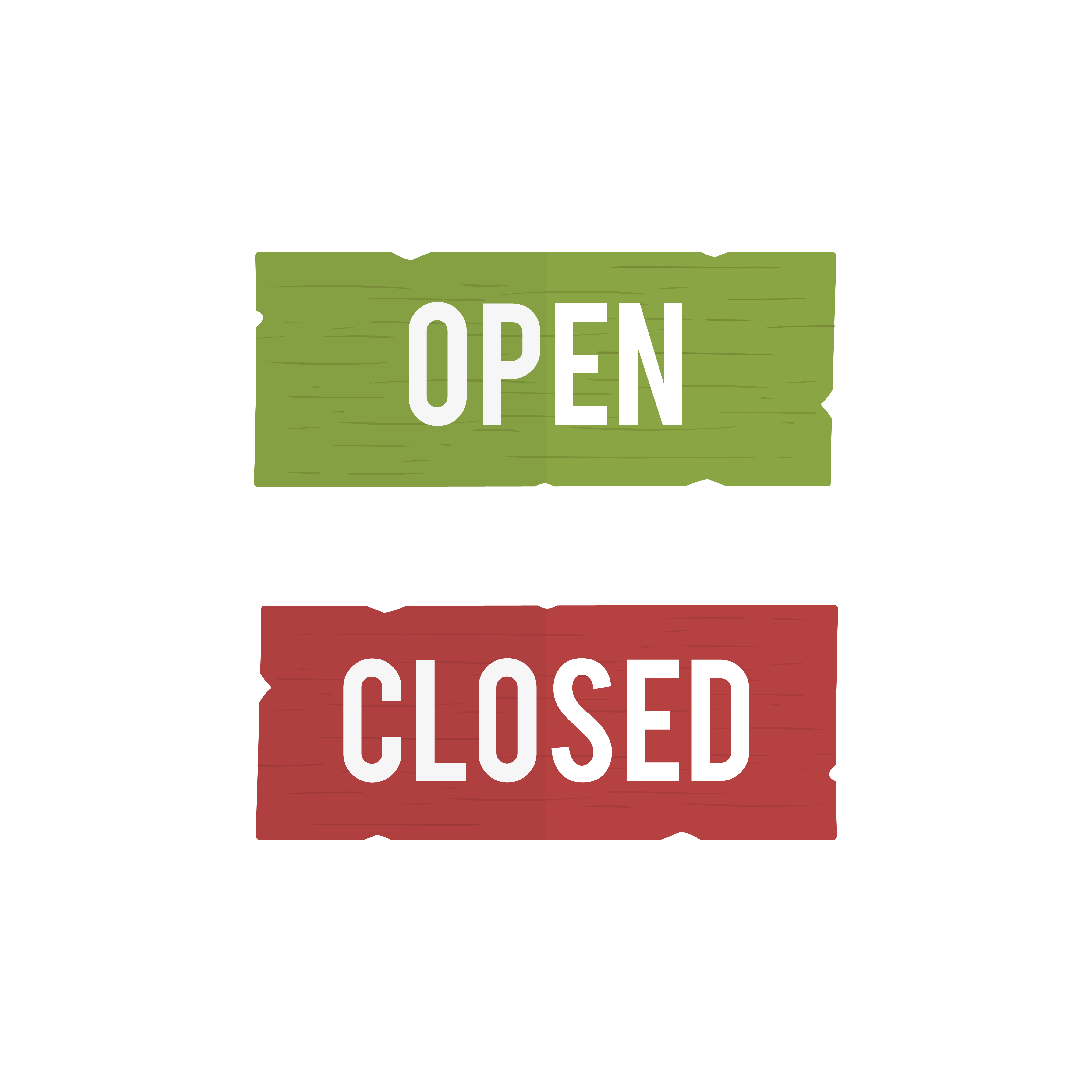 Opening and Closing times