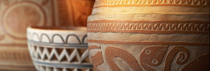 Photograph of African pottery