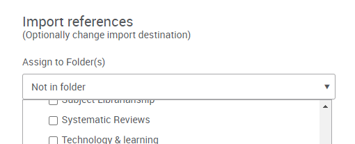 Import References instructions in RefWorks
