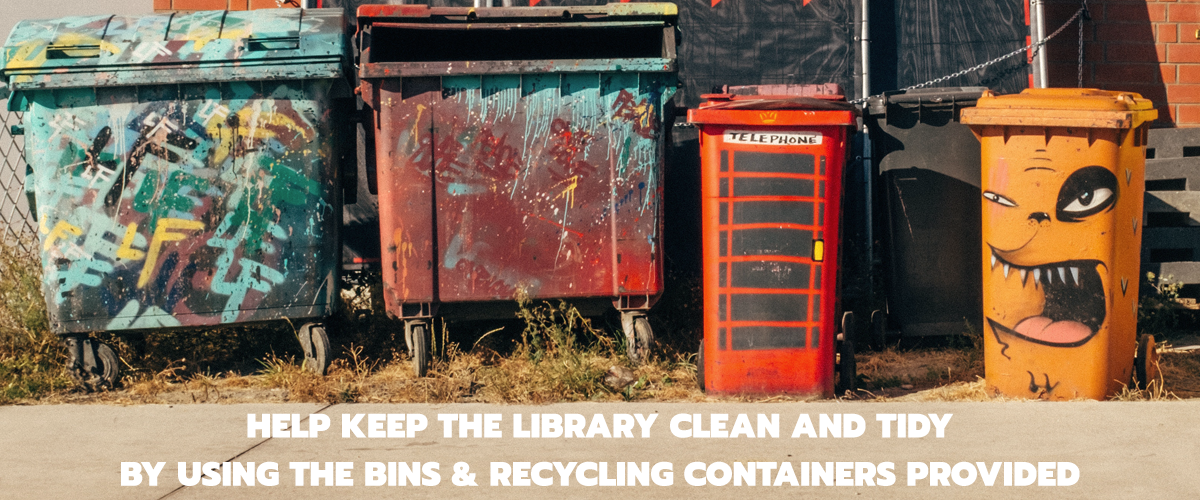 Help keep the library clean and quiet image